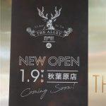 タピオカミルクティーなどで有名なTHE ALLEY(ジ アレイ)が2019年1月9日オープン予定
